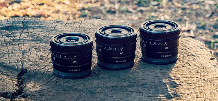 Nové kompaktné objektívy Sony G Lens
