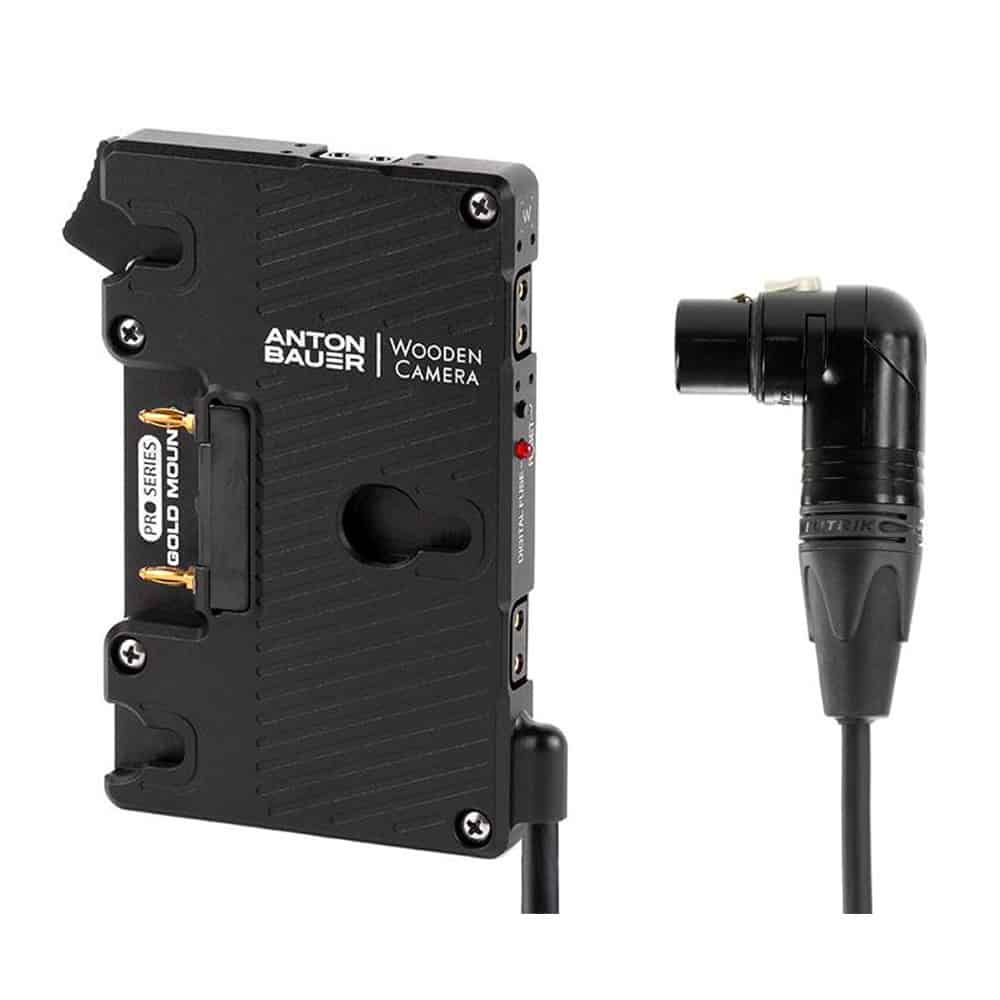 Wooden Camera WC Pro Gold Mount (4pin XLR Right Angle)